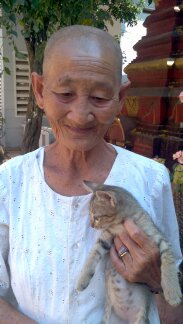 Cat's friend, the nun in Siem Reap