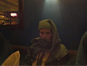 Hank using my scarf