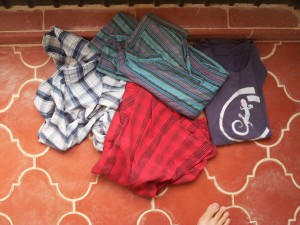 Shirts purchased in Turkey, Kenya, India, and Cambodia.  All left in Mexico.