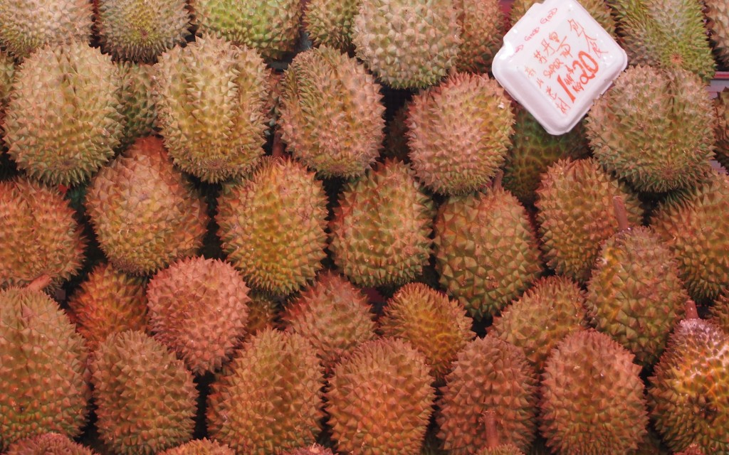 Durian.  Thank God that you can't smell it.