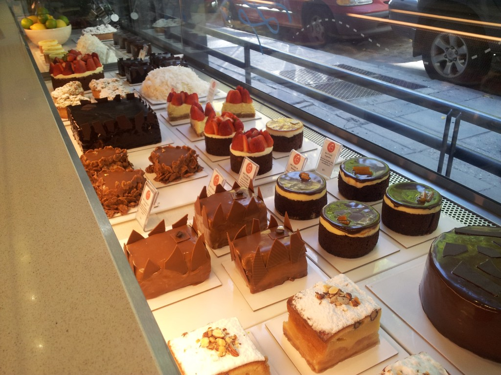 Sweets, many with dulce de leche, at Shmetterling in Buenos Aires