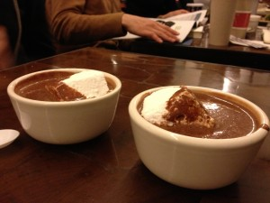 hot chocolate and marshmallows at City Bakery, New York