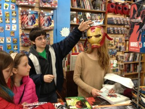 The comic book section of Strand Bookstore, New York