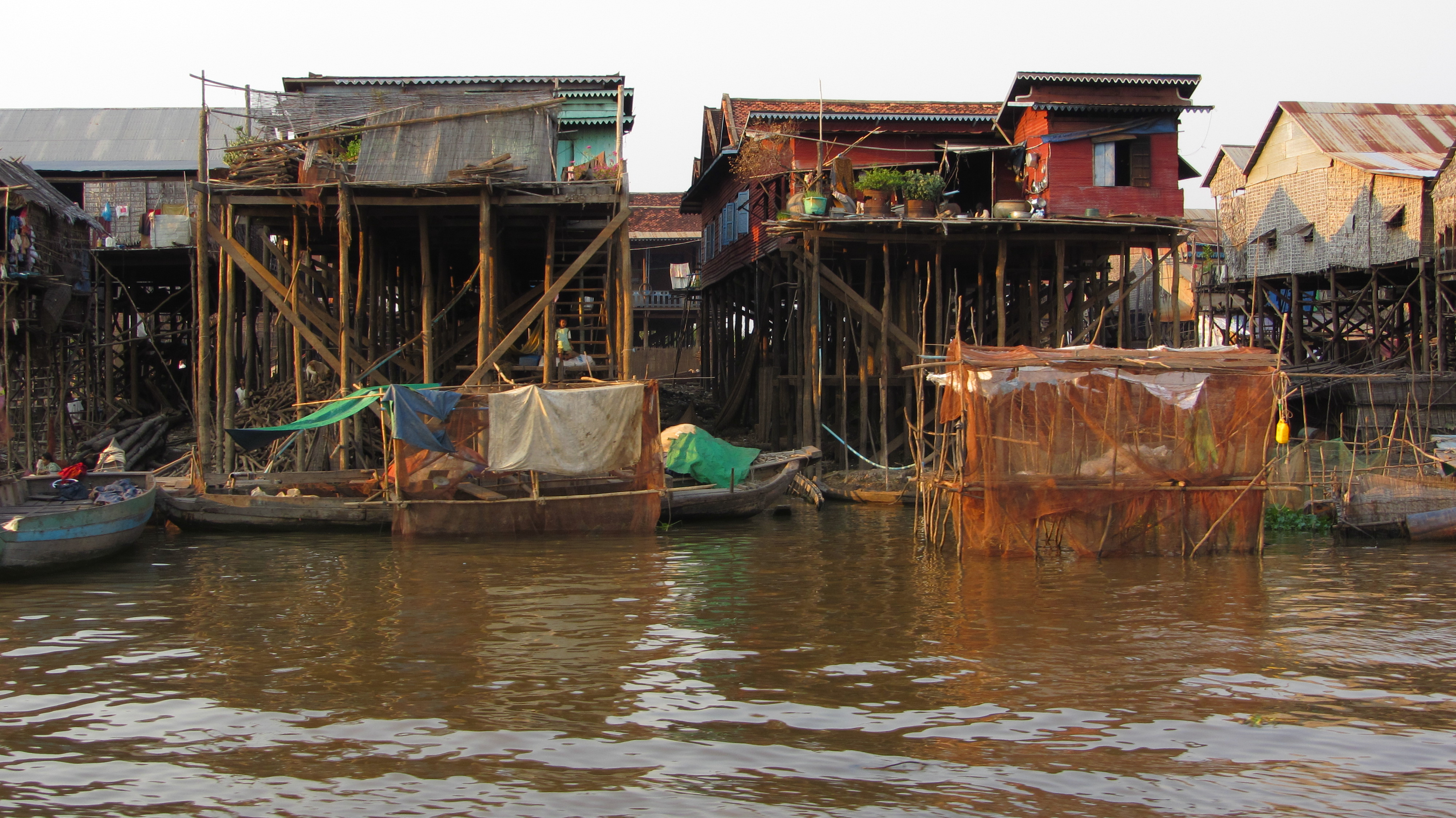 Houses on stilts on Tonle Sap