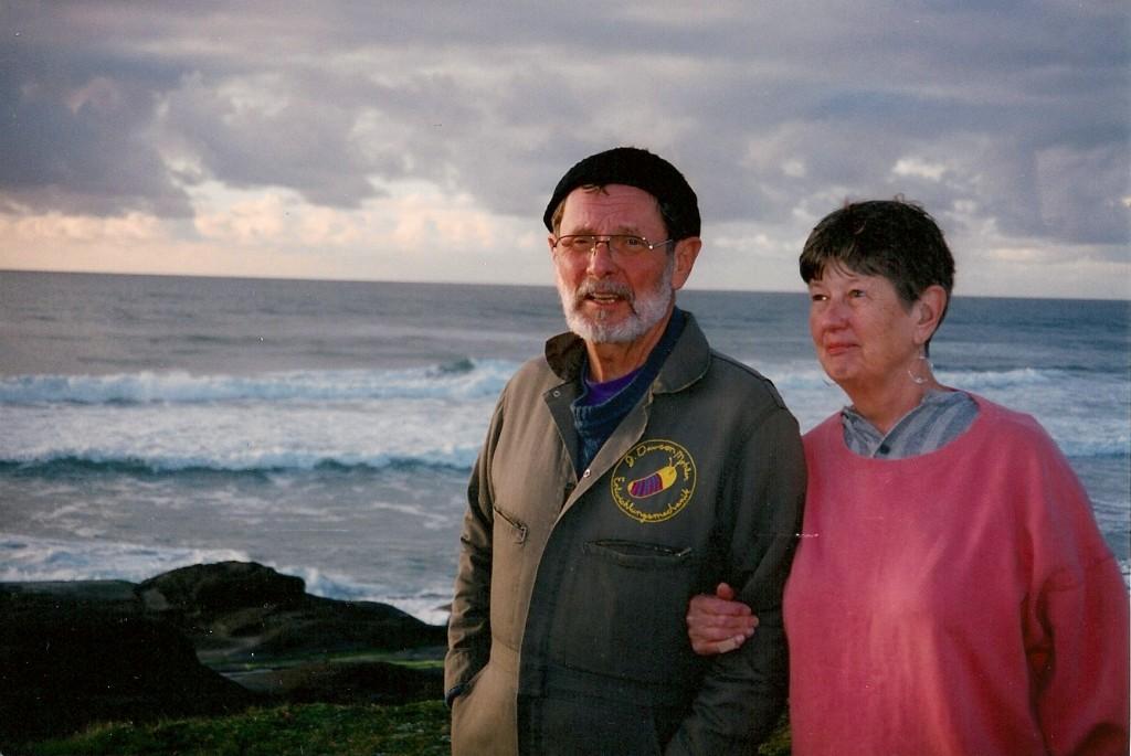 Mom and Dad on the Oregon coast