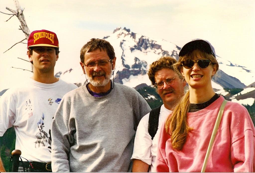 Steve, Dad, Jym, and me