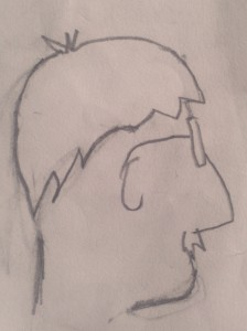 Caricature of Bill by Cat