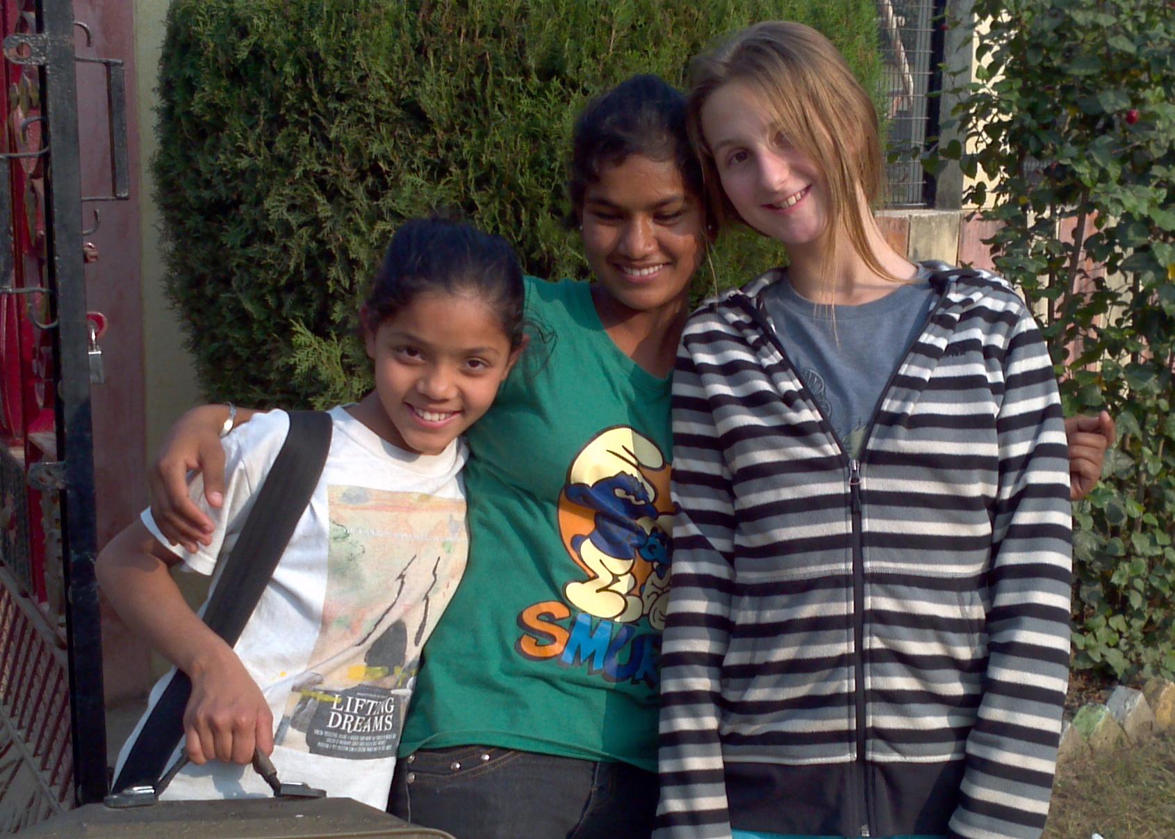 friends at the Sri Ram Ashram