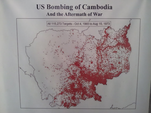 The US bombing of the Ho Chi Minh Trail.  Note all the red dots nowhere near the Vietnamese border