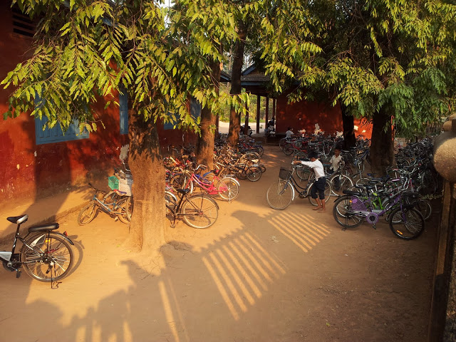 Bike to School Day in Siem Reap - every day