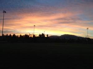 Sunrise over Mt Diablo from Heather Farms Park
