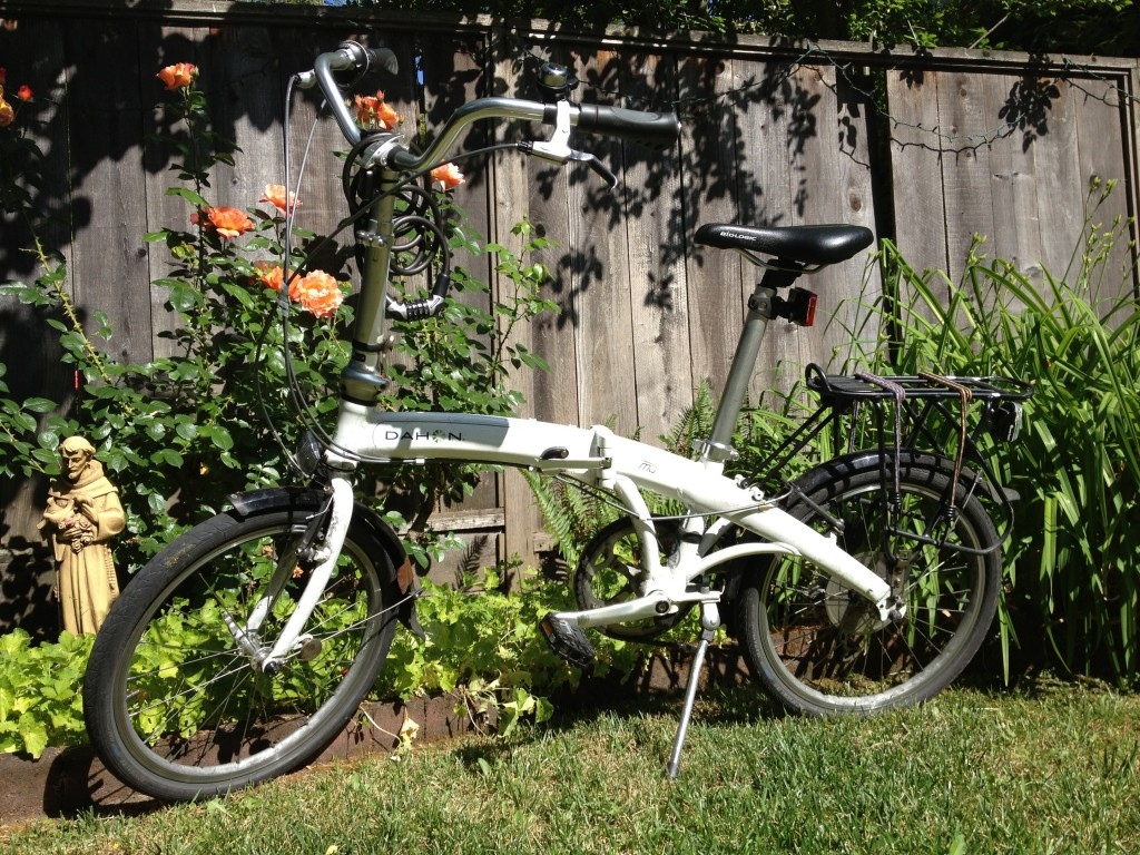 My bike in the garden