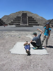Ancient sacrificial site in Teotihuacan outside of Mexico city
