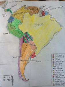 Map of South America by Cat