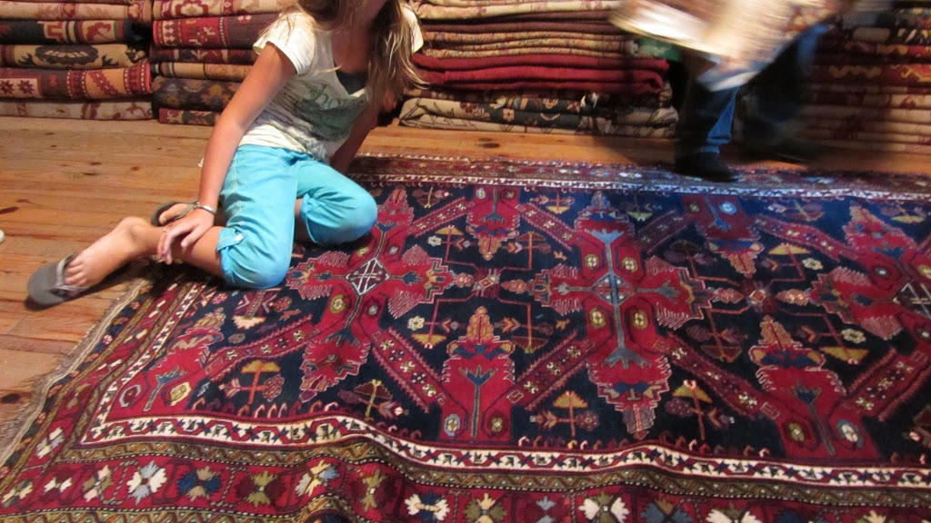 hundreds of rugs in Istanbul